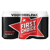 First Choice cola regular 6-pack  voorkant