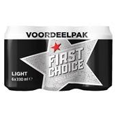 First Choice cola light light 0,33L x6 voorkant
