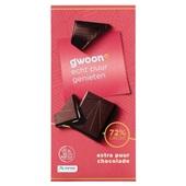 Gwoon chocoladetablet  extra puur voorkant