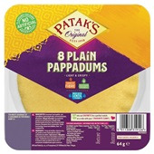 Patak's pappadums  natural voorkant