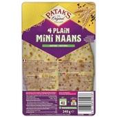 Patak's naan plain mini voorkant