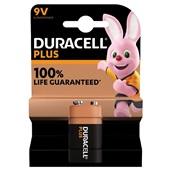 Duracell batterijen alkaline plus 9 V voorkant