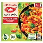 Iglo ping & klaar veggie bowl penne pesto rosso voorkant