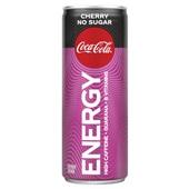 Coca Cola energy no sugar cherry voorkant
