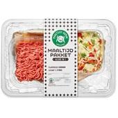 Spar maaltijdpakket flatbread gekruid gehakt voorkant