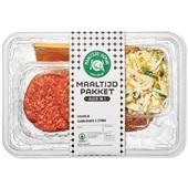 Spar maaltijdpakket broodje hamburger voorkant