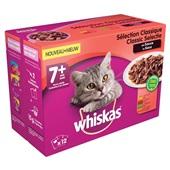 Whiskas Kattenvoer Senior Vleesselectie In Saus achterkant
