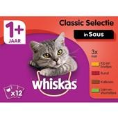 Whiskas Kattenvoer Vleesselectie In Saus voorkant