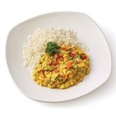 Culivers rode linzencurry met witte rijst  voorkant