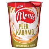 Mona yoghurt Griekse stijl peer karamel voorkant