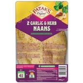 Patak's naanbrood garlic & coriander voorkant