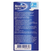 Nicotinell Nicotine Kauwgom 2 Mg achterkant