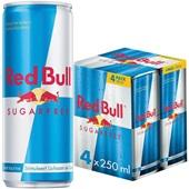 Red Bull Energiedrank Sugar Free 4X25CL voorkant