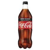 Coca Cola Zero Fles 1 Liter voorkant