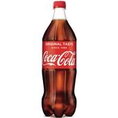 Coca Cola regular fles 1 liter voorkant
