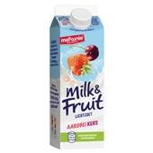 Melkunie Milk & Fruit Drinkyoghurt Aardbei/Kers achterkant