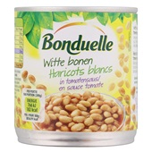 Bonduelle Witte Bonen In Tomatensaus voorkant