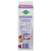 Melkan Magere Fruityoghurt Bosvruchten achterkant