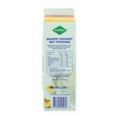 Melkan Magere Fruityoghurt Perzik achterkant