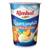 Almhof Roomyoghurt Maracuja Perzik voorkant