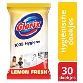 Glorix Allesreiniger Hygiënische Doekjes Lemon Fresh achterkant