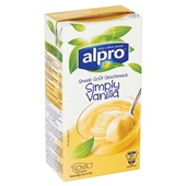 Alpro zuivel houdbaar Dessert vanille achterkant