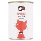 Oke Kattenvoer Brokjes In Saus Met Rund voorkant