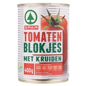 Spar tomatenblokjes kruiden voorkant