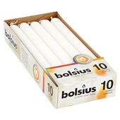 Bolsius Dinerkaarsen Wit achterkant