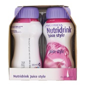 Nutricia Juice Style Bosvruchten 4x200 ml achterkant