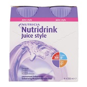 Nutricia Juice Style Cassis 4x200 ml voorkant