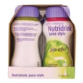 Nutricia Juice Style Appel 4x200 ml achterkant