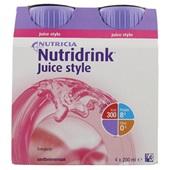 Nutricia Juice Style Aardbei 4x200 ml voorkant