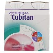 Nutricia Cubitan Aardbei 4x200 ml voorkant