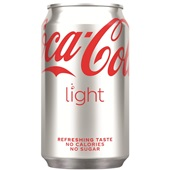 Coca Cola light blik 33cl voorkant