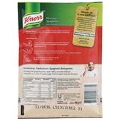 Knorr Kruidenmix Spaghetti achterkant
