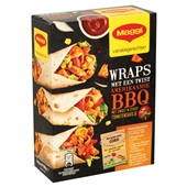 Maggi maaltijdpakket Wraps bbq achterkant