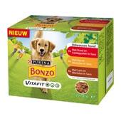 Bonzo Adult Hondenvoer Wortel en Lam Multipak voorkant