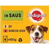Pedigree Hondenvoer Kip, Rund En Groenten in Saus voorkant