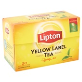 Lipton Thee Yellow  Label achterkant