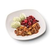 Culivers (68) hachee van paddenstoelen, rode bietjes met zilveruitjes en aardappelpuree met tuinkruiden voorkant