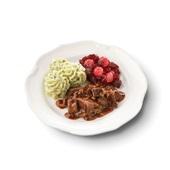 Culivers (80) hachee, rode bietjes met zilveruitjes en aardappelpuree met tuinkruiden zoutarm  voorkant