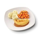 Culivers (129) omelet champignon in provencaalse saus, parijse worteltjes en aardappelpuree zoutarm voorkant