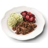 Culivers (2) hachee, rode bietjes met zilveruitjes en aardappelpuree met tuinkruiden gluten- en lactosevrij voorkant