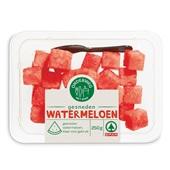 Spar gesneden watermeloen bakje 250 gram voorkant