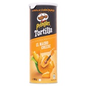 Pringles tortilla chips nacho cheese voorkant