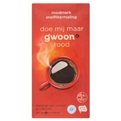 Gwoon koffie snelfiltermaling rood voorkant