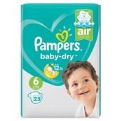 Pampers Baby Dry Luiers 6 Extra Large voorkant