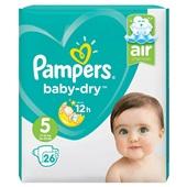 Pampers Baby Dry luiers 5 junior luiers voorkant