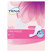 Tena Lady Incontinentie Inlegkruisjes Mini Magic voorkant